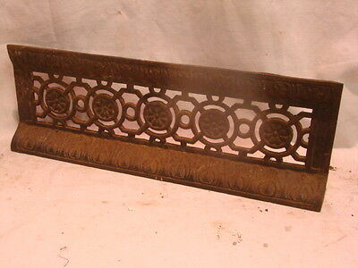Antique Late 1800's Cast Iron Fireplace Bumper Surround Insert Ornate Design