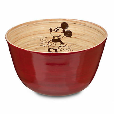 Disney Parks Kitchen Collection Mickey Mouse Bamboo Salad Mixing Bowl New