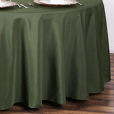 "10 WILLOW GREEN 90"" ROUND POLYESTER TABLECLOTHS Wholesale Wedding Decorations"