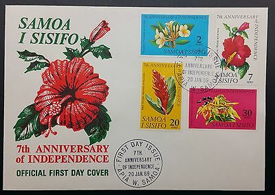Samoa 7th Anniversary of Independence First Day Cover FDC 1969 FDI, Unaddressed