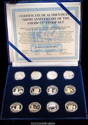 500th Ann. of the Americas Proof Set < 12 Sterling Silver Coin Cameo Proof Set >