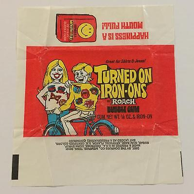 Turned On Iron-Ons Trading Card Wax Wrapper Vintage Donruss 1978
