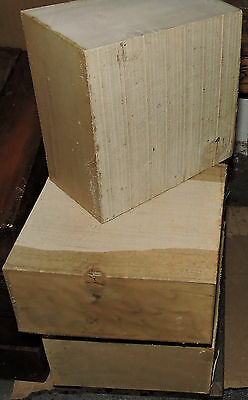 "Holly Wood Lumber 6""x6""x3"" Bowl Blank Woodworking Carving Engraving Piano Keys"