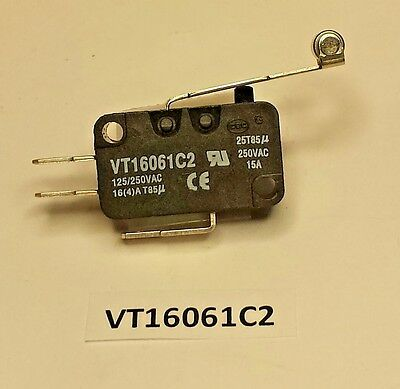 VT16061C2 Highly roller actuated snap action 15 Amp 250 VAC limit safety switch