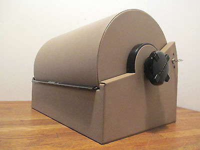 Vintage Rolodex Double Wide Rotary Card File Model 3500 w/Key