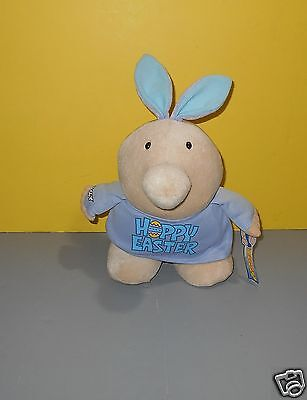 2003 Chubby Ziggy Happy Easter Bunny Stuffed Plush Character by Kellytoys