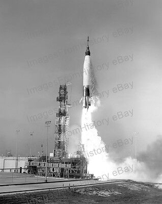 8x10 Print NASA Mercury Atlas Launch 1961 #MA1