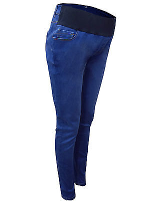 New Look Blue Under Bump Soft Feel Maternity Jeggings UK 8,10,12,14,18 New