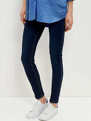 New Look Dark Indigo Under Bump Maternity Skinny Jeans UK 10,12,14,16,18,20