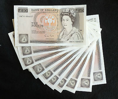 Gill Florence Nightingale Ten Pound £10 Banknote ( Issued 1988-1991 ) EF+