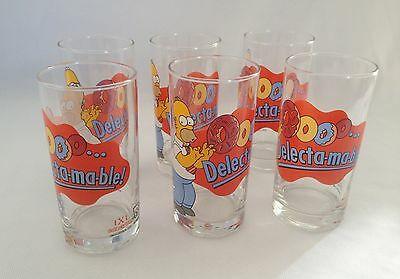 Set Of Six Simpsons Ixl Collectable Limited Edition Glasses - Homer - 2006