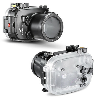 Neewer 40m 130ft Underwater PC Housing Camera Waterproof Case for Sony A7/A7R