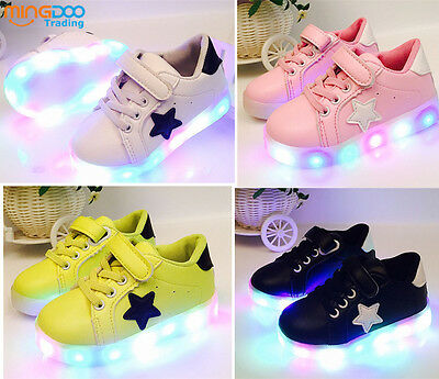 New Baby Casual Shoes Boys Girls LED Lights Shoes Fashion Sneakers for Kids