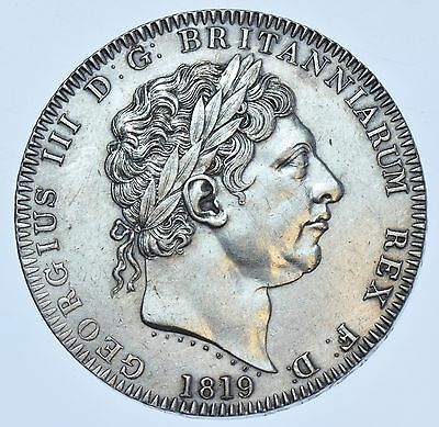 1819 Lix Crown; British Silver Coin From George Iii Ef