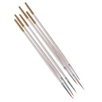 6Pcs ARTISTS PAINT BRUSH SET FINE HOBBIES CRAFTS MODEL MAKING BRUSHES KIT