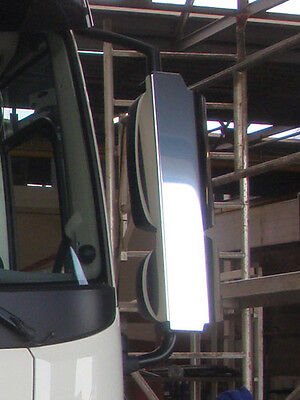 DAF XF 106 CF Euro 6 Stainless Steel Mirror Guards. Truck Mirror Guards.