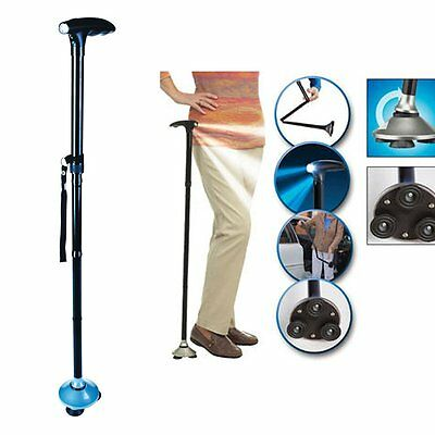 Aluminum Metal Walking Stick Adjustable Folding Collapsible Travel Cane