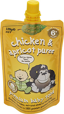 Raffertys Pureed Chicken & Apricot 120G NEW Cincotta Chemist