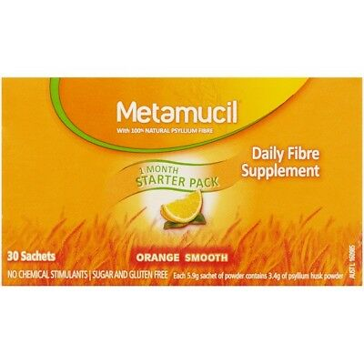 Metamucil Smooth Orange 30 Sachets NEW Cincotta Chemist