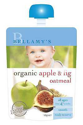 Bellamys Apple & Fig Oatmeal 90G NEW Cincotta Chemist