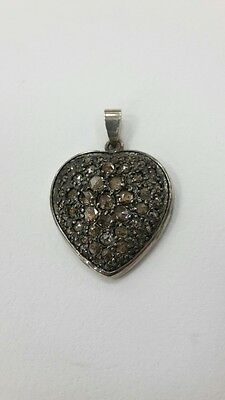 RR Rare beautiful collectible 925 silver pendant with 46 diamonds 20th century