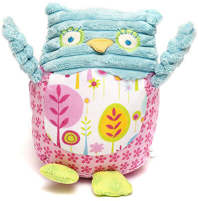 Pink & Blue Olive Owl Baby Rattle Toy - New Baby - NEW