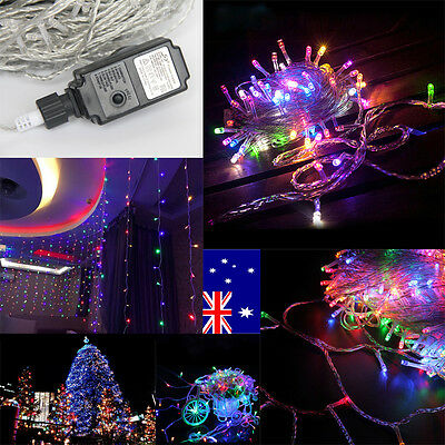 250 LED 50M Fairy String Lights Wedding Outdoor Xmas Tree Party 4 Color Mixed AU