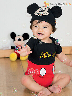 Baby Toddler Deluxe Mickey Mouse Costume Boys Disney Fancy Dress Jersey Outfit