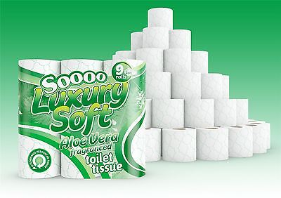 45 Rolls of So Soft Aloe Scented 3 Ply Pure Pulp Toilet Tissue Paper