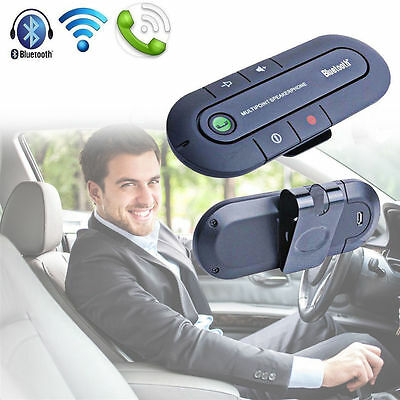 Slim Bluetooth Hands free In Car Wireless Speaker Connect 2 Phone Simultaneously