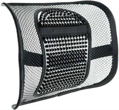 Vinsani Mesh Back Support Lumbar Comfort & Elasticated Positioning Strap - Black