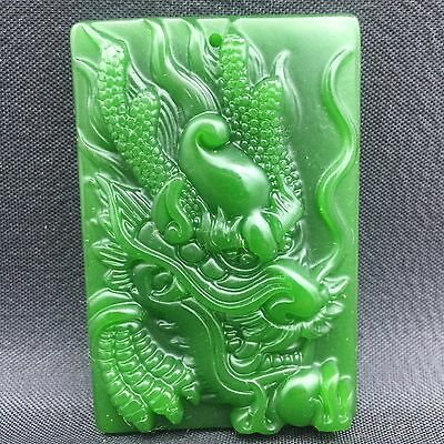 Chinese natural ancient old hard jade culture jadeite hand-carved pendant   B09