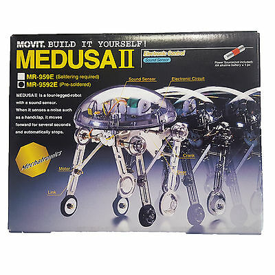 Movit Medusa II Build It Yourself (Pre-Soldered MR-9592E) Sound Activated Robot