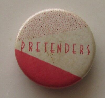 PRETENDERS VINTAGE METAL PIN BADGE FROM THE 1980's POP RETRO CHRISSIE HYNDE