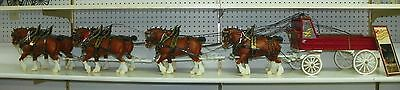 BREYER #80 Clydesdale Stallion Drafter Full Leather Harness Budweiser Show Wagon