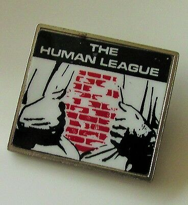 THE HUMAN LEAGUE VINTAGE METAL PIN BADGE FROM THE 1980's DARE POP RETRO