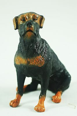 """Rottweiler Dog Plastic Collectable 2 1/2"""" Figurine Toy"""