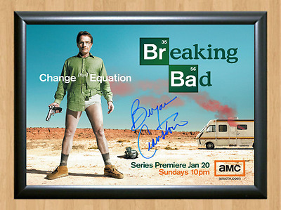 Breaking Bad Bryan Cranston Signed Autographed A4 Print Photo Poster Memorabilia