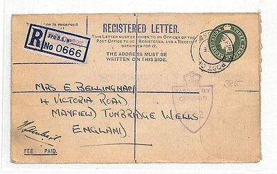 AT139 c1945 GB Registered Letter Field Post Office Tunbridge Wells Cover PTS
