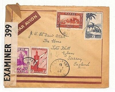 AT146 Morocco 1943 Surrey GB *TAZA HAUT* Cover {samwells-covers}PTS