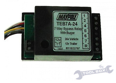 7 Way Bypass Relay with Buzzer, Convert 24V To 12V, 15A, ( TEB7 A-24 )  MP3879B