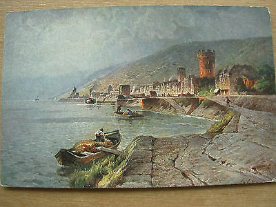 Vintage German Postcard Germany Rudesheim