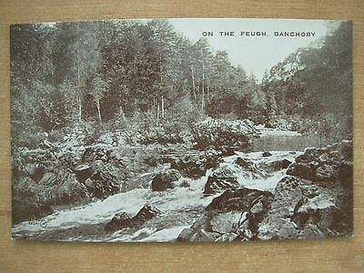 Vintage Postcard On The Feugh - Banchory - Scotland