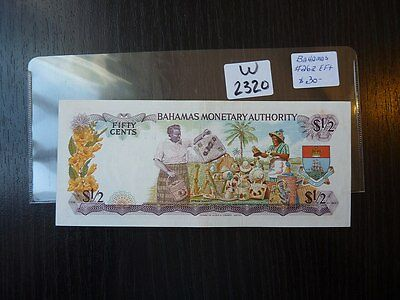 Banknote Bahamas  1965 50 Cent Cat Value 30.00      W2320