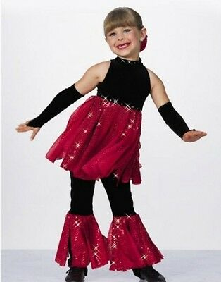 Lot of 7 Twist and Shout Dance Costumes Jumpsuit/Mitts Clearance Child X-Small