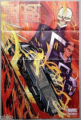 """MARVEL NOW! - GHOST RIDER FOLDED PROMO POSTER - 24"""" x 36"""" INCH - BRAND NEW"""