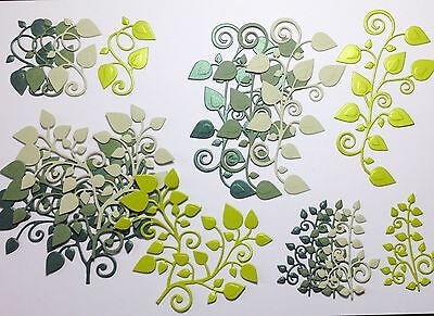 Tonic Die Cut And Embossed Leafy Flourishes (greens)