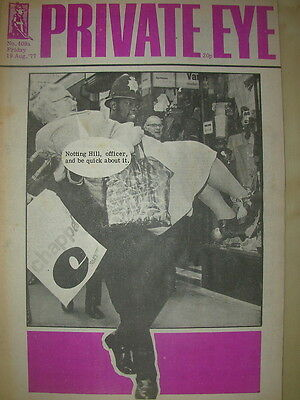 PRIVATE EYE MAGAZINE No 409a AUGUST 19 1977 NOTTING HILL CARNIVAL