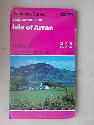 1980 ORDNANCE SURVEY LANDRANGER SHEET MAP No 69 ISLE OF ARRAN