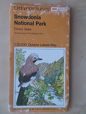 1977 Ordnance Survey Outdoor Leisure Map Snowdonia National Park Conwy Valley